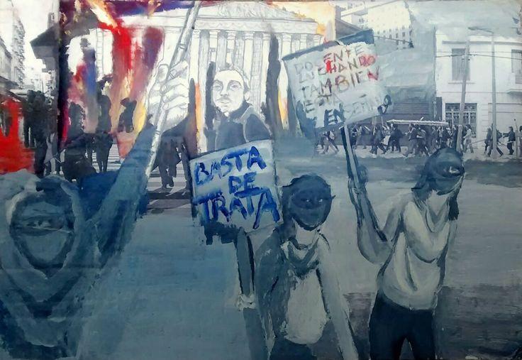 #Arte de Ani GP, por la convocatoria del #1deMayo, Día de los Trabajadores en #LaCajaRoja > http://www.laizquierdadiario.com/El-Dia-Internacional-de-los-Trabajadores-en-La-caja-roja #dibujo #ilustración #digital