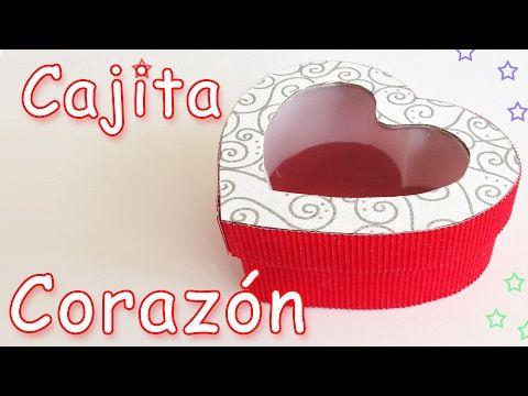 Como Hacer una Caja en Forma de Corazon con Cartón Corrugado- Hogar Tv  por Juan Gonzalo Angel - YouTube