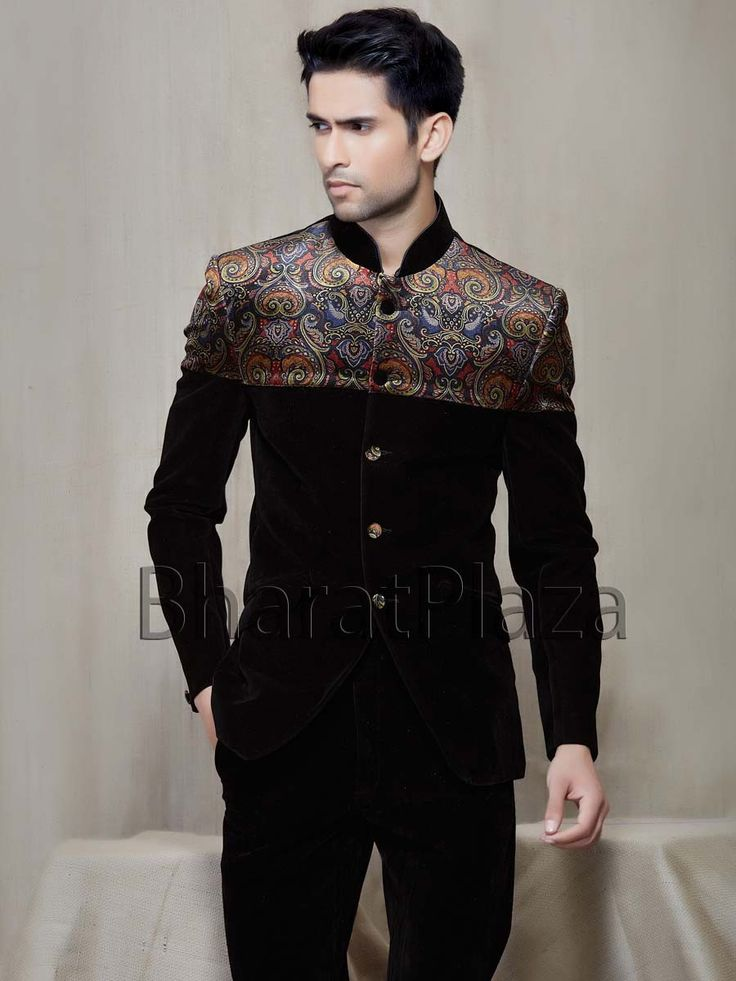 Pleasurable Velvet Jodhpuri Suit