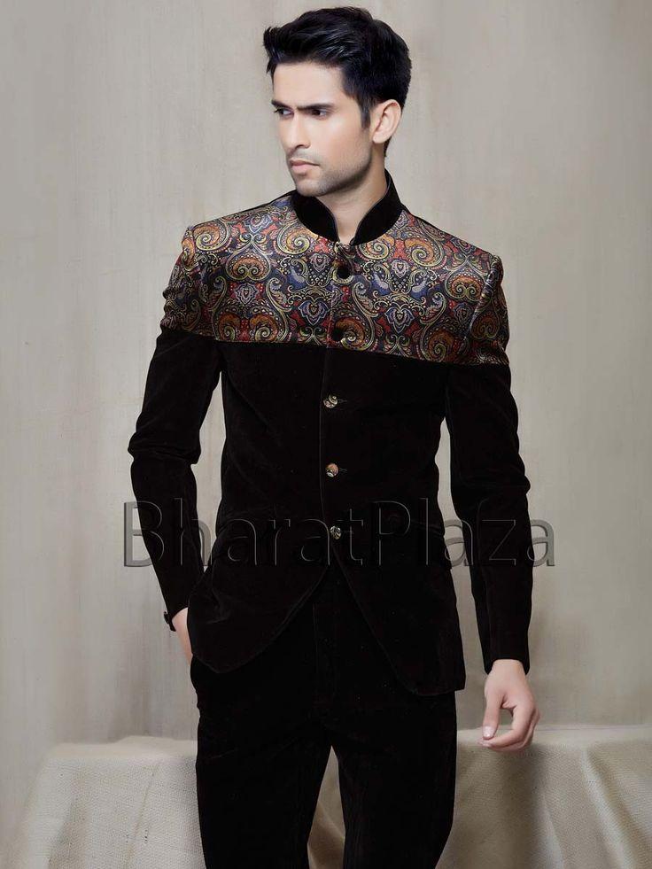 Pleasurable Velvet Jodhpuri Suit