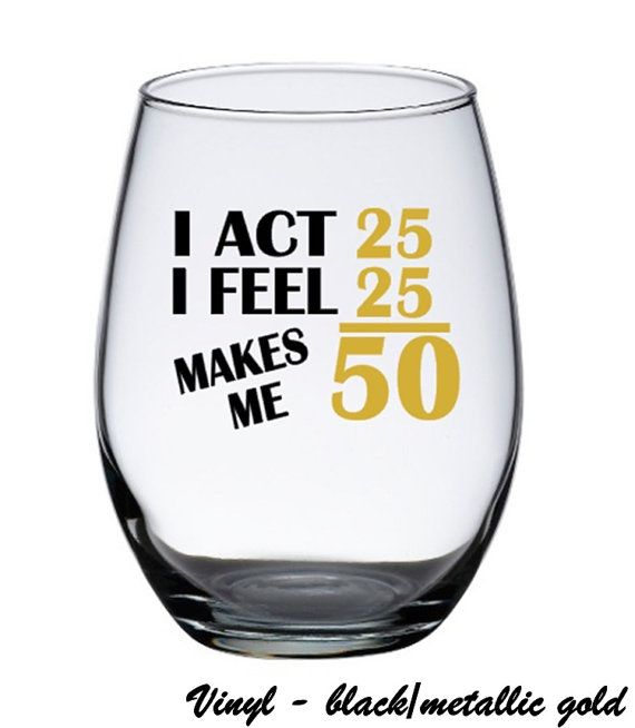 Birthday Wine Glasses 50th Birthday Wine by PersonalizedGiftsUS