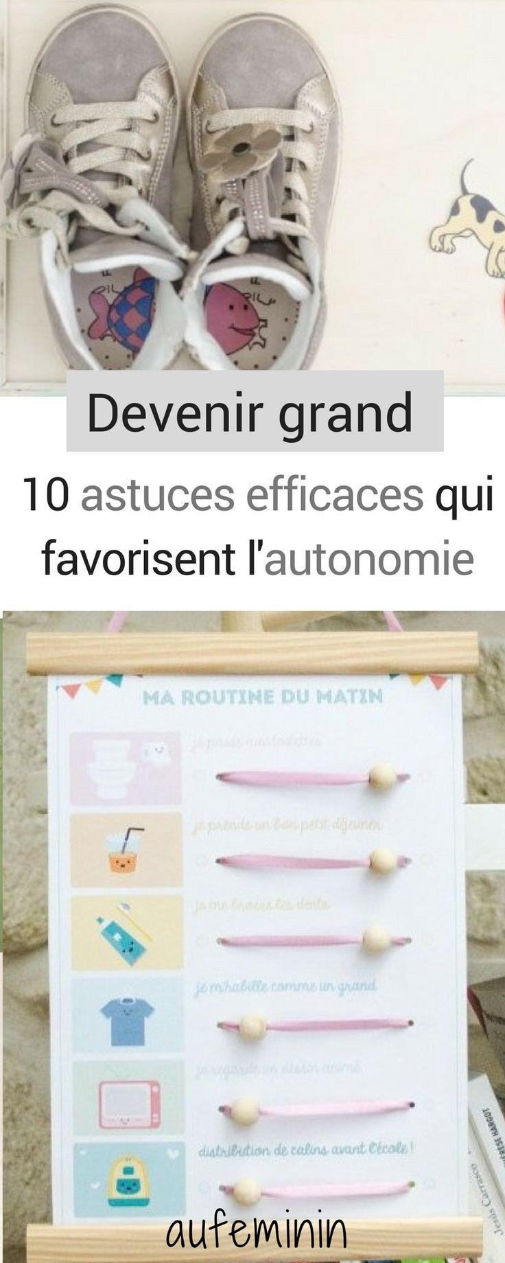 10 astuces efficaces qui favorisent l'autonomie de bébé. Ainsi, bébé devient un enfant petit à petit. #autonomie #autonome #bébé #enfant #astuce #lacets #repas #habits #routine #maman #matin #soir #aufeminin