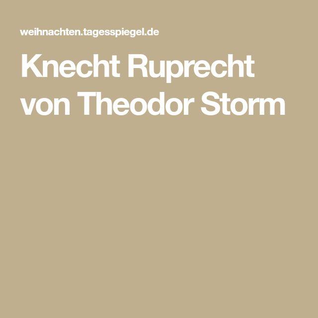 Knecht Ruprecht von Theodor Storm