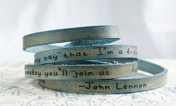 Imagine by John Lennon  Ultra Long Leather Custom by Cjohannesen, $29.00