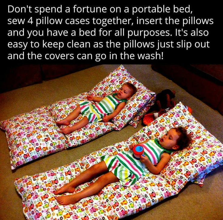 Portable beds were never easier! Use holiday themed pillowcases for little guest's sleepovers at Christmas!