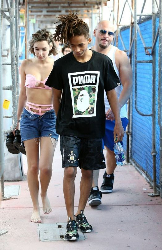 Jaden Smith and his girlfriend Sarah Snyder out and about in Miami, Florida on December 06, 2015