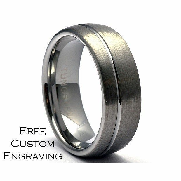 Tungsten Ring Men S Tungsten Wedding Band Men S Etsy In 2021 Tungsten Wedding Bands Mens Wedding Bands Tungsten Tungsten Mens Rings