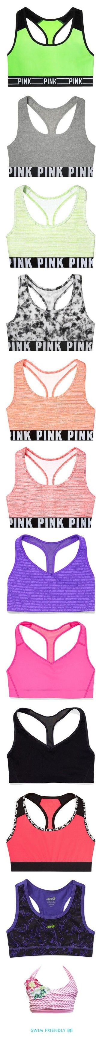 """Sports/Dance Bras 2"" by simpsonizer0718 ❤ liked on Polyvore featuring underwear, bra, tops, sports bra, victoria's secret, activewear, sports bras, bras, clothes and shoes and sports"