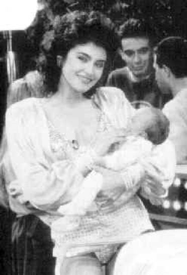 Former lover Lory Del Santo with baby Conor