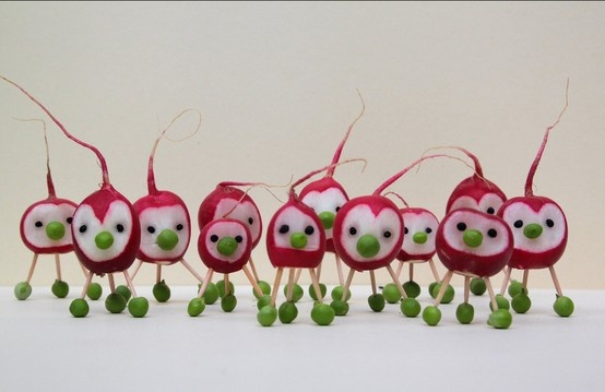 Just cute - radishes and peas! #fun food ideas for kids