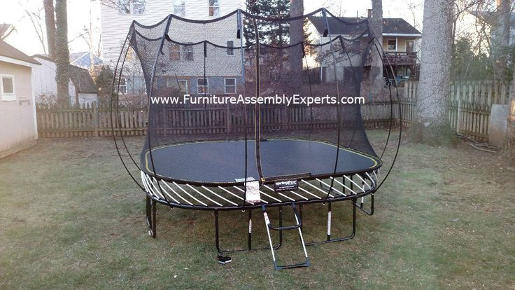 springfree trampoline assembled for a customer in sterling Virginia by Furniture Assembly Experts company