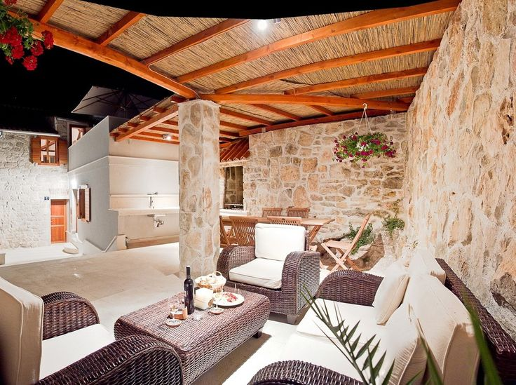 ... Luxury Stone Villa For Memorable Holiday In Croatia   Outdoor Lounge  Vis A Vis ...
