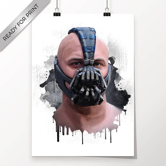 Bane Tom Hardy Batman The Dark Knight Rises Kunstwerk
