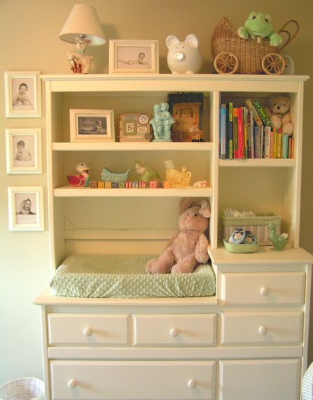 Cute White Changing Table With Shelves Would Look Adorable For Either A Little S Or