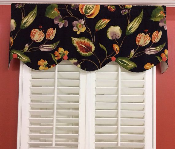 Bright And Bold Linen Scalloped Valance Window TreatmentsValancesBold ColorsRod PocketLinensBeddingVibrant