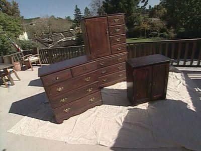 How To Lighten Dark Bedroom Furniture, How To Paint Wood Furniture Dark Brown