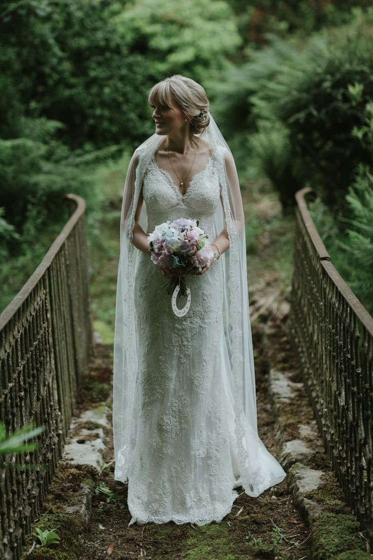 Lusan Mandongus Dress Gown Bride Bridal Lace Veil Pastel Summer Marquee Country Estate Wedding http://www.rooftopmosaic.com/