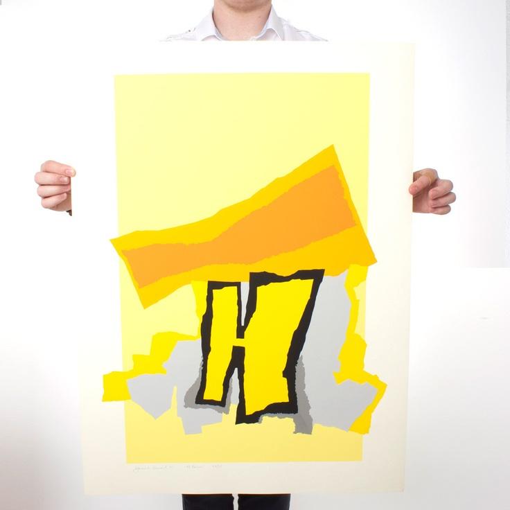 H Forms Print 22x30: Prints 22X30, Form Prints, Screens Prints, Fab Com, Harold Krisel, Contemporary Art, Signs Screens, Form Lg, Design