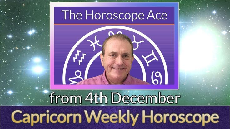 Capricorn Weekly Horoscope from 4th December - 11th December 2017