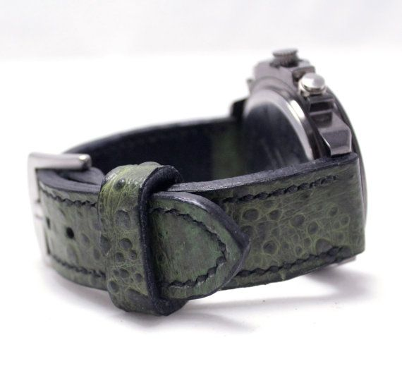 Exotic Leather Watch Strap LAST ONE Bufo toad frog by AngerRefuge