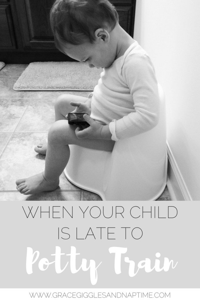 When Your Child is Late to Potty Train