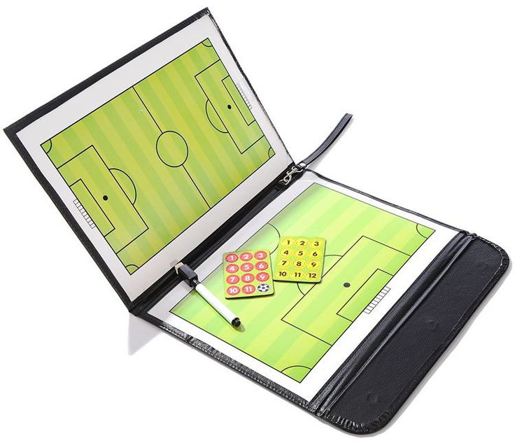 Football Tactics Board Multicolour Teaching Board Soccer Coach Tactics Board Magnetic Leather Case Upscale Atmosphere