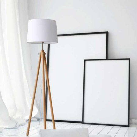 "Free Shipping. Buy Ktaxon 61"" Tall Wooden Tripod Floor Lamp Morden Barrel Lampshade for Bedroom Living Room E26 Socket at Walmart.com"