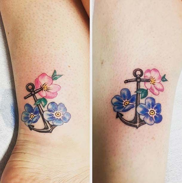 23 Cute And Creative Sister Tattoos Tatuaggi Abbinati Sorelle