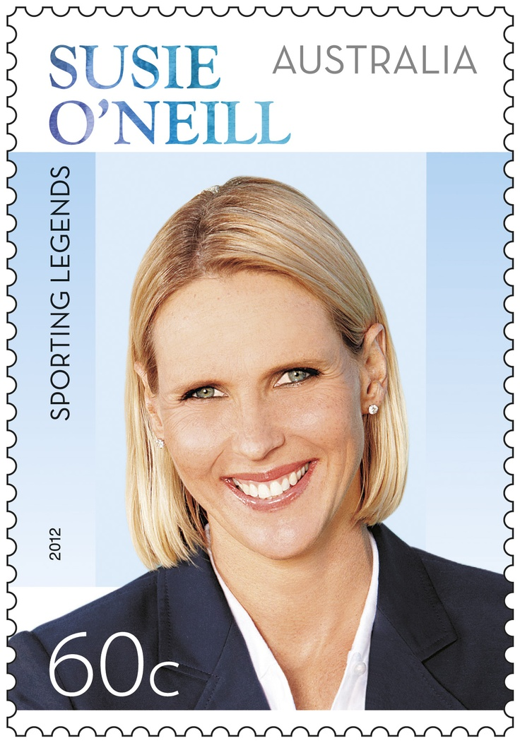Congrats to Susie O'Neill on her Sporting Legend status at the Australian Sports Hall of Fame! We've made a stamp to celebrate http://auspo.st/RjCyYj