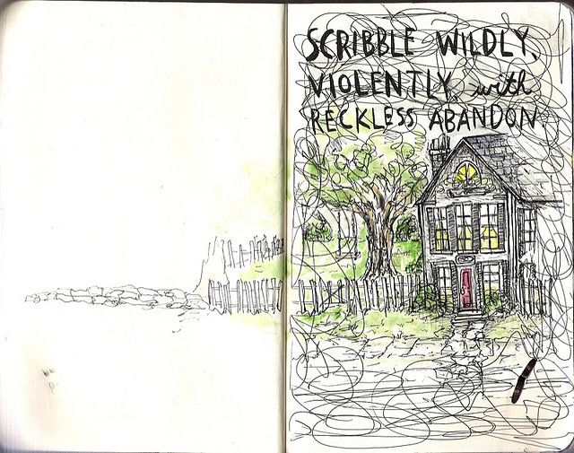 wreck this journal - scribble wildly
