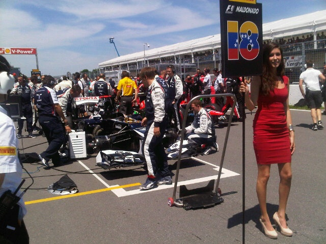 Pastor Maldonado on Grid Position 18