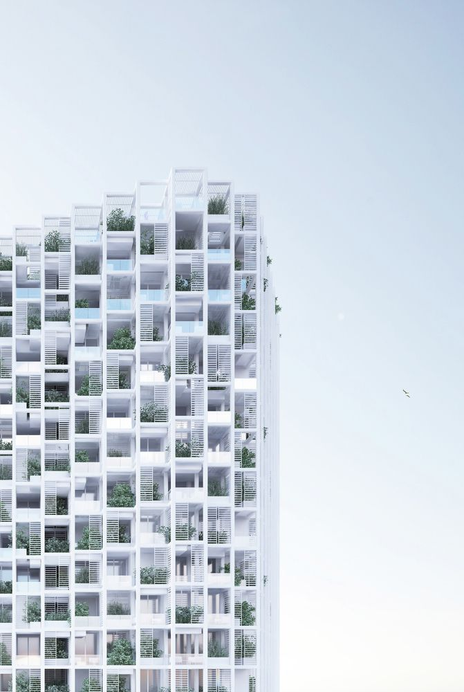 penda projeta torre residencial modular na Índia,© penda