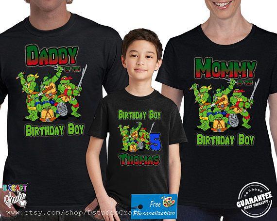 Teenage Mutant Ninja Turtles Birthday Shirt Tmnt Custom Ninja Turtle Birthday Shirt Teenage Mutant Ninja Turtle Birthday Ninja Turtle Birthday