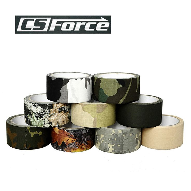 CS Force 2017 New Type 1 Roll Hunting Camo Tape Military Camping Tape Sports Camo Stretch Bandage Bandage 10M $