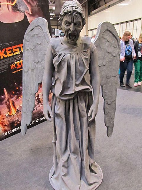 Weeping Angel Cosplay - that's really good... and terrifying... and I would run fr my LIFE.