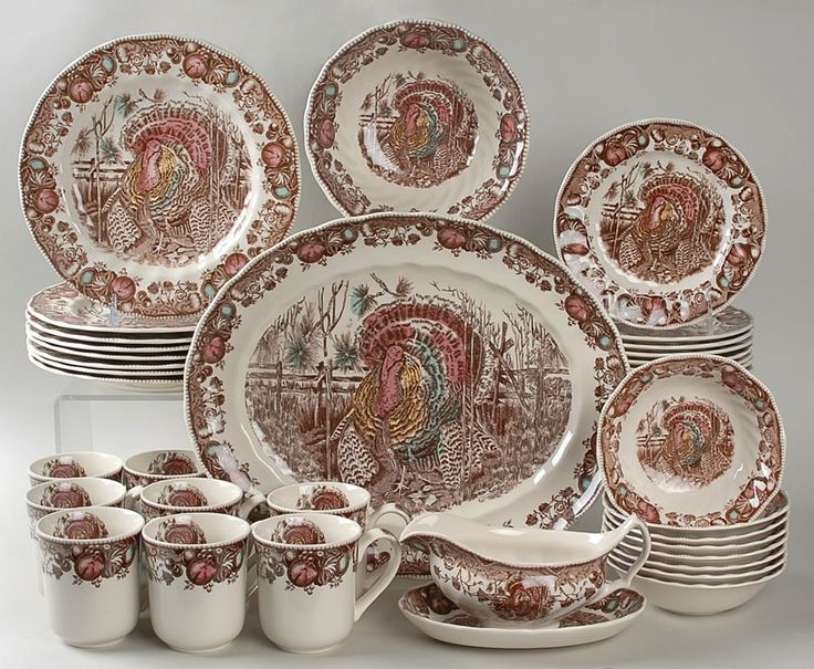 Picture of Pretty Thanksgiving Dinnerware Sets