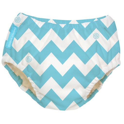 Charlie Banana® Reusable Swim Baby Nappy | Blue Chevron Print