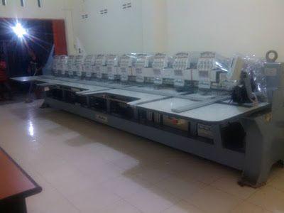 Mesin bordir komputer 12 kepala pesanan jl kaliurang km 9 Yogyakarta.