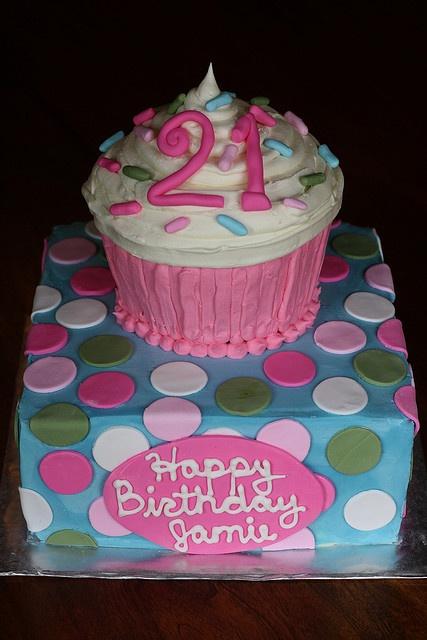 21st Birthday Cake! | Flickr - Photo Sharing!