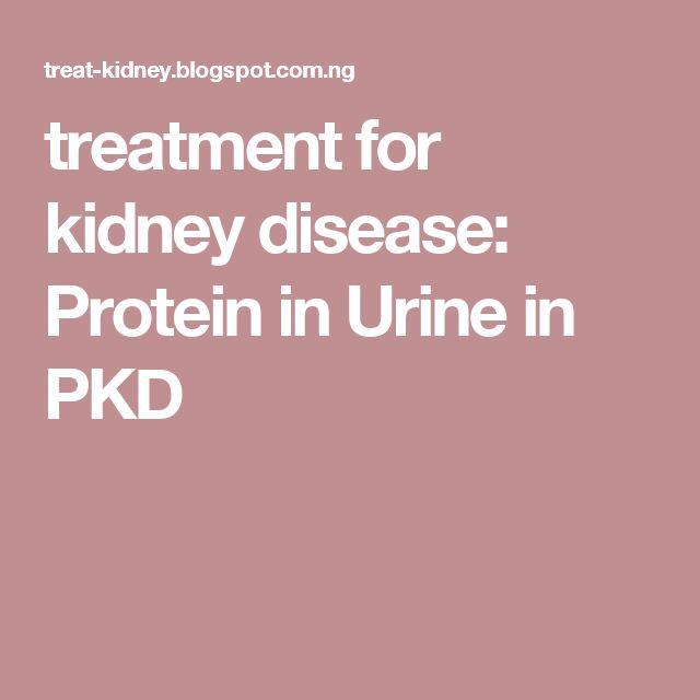 treatment for kidney disease: Protein in Urine in PKD