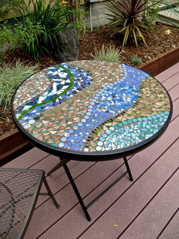 Circular Mosaic Bistro Table For Bay Area Residents By CareWare, $195.00