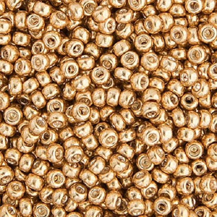 Miyuki Seed Beads - Size 11/0 - 1mm Hole - 22g Vial - Gold Colors Various Style