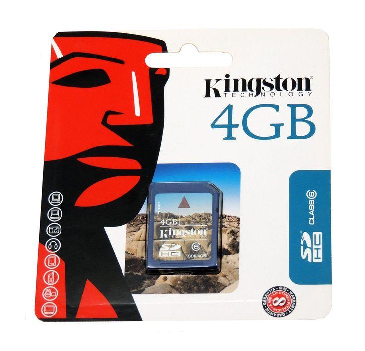 Kingston Technology 4GB Flash Memory SDHC Card Class 6