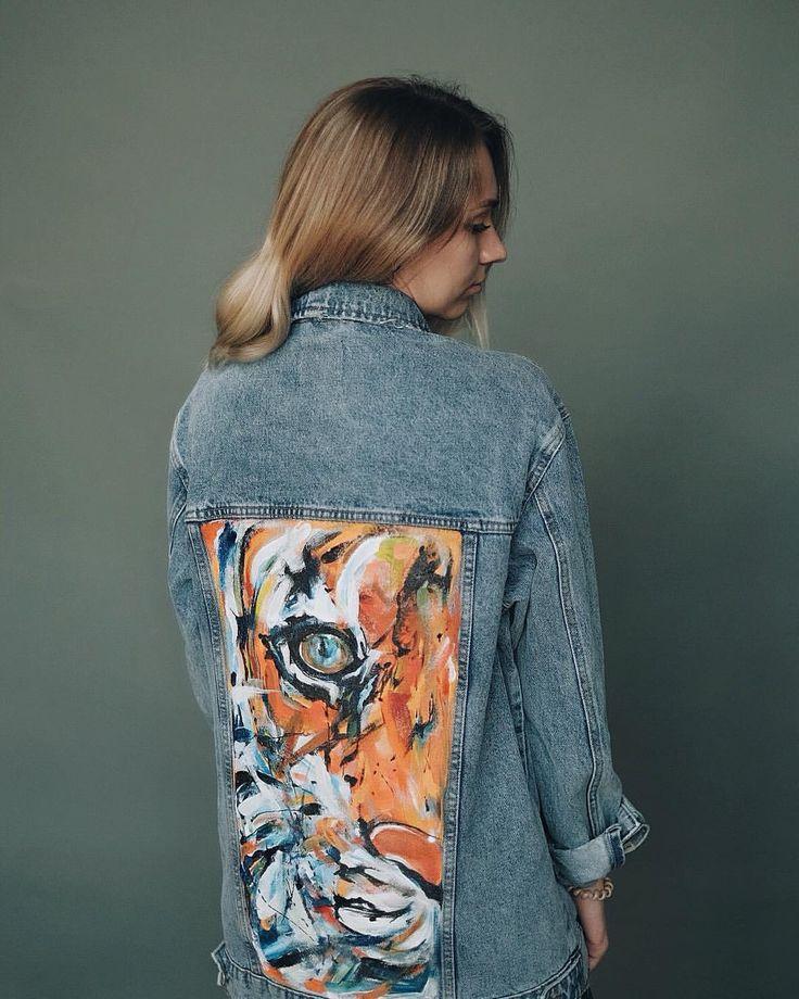 рисунок на джинсовой куртке акриловыми красками интернете, часто