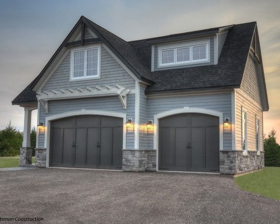 Gray Exterior House Colors Design, Pictures, Remodel, Decor and Ideas – page 6 Craftsman Construction The shingles above are Behr Semi Transparent stain color Light Lead The siding is Certainteed Pewter color The stone is Cultured stone Gray Cobblefield