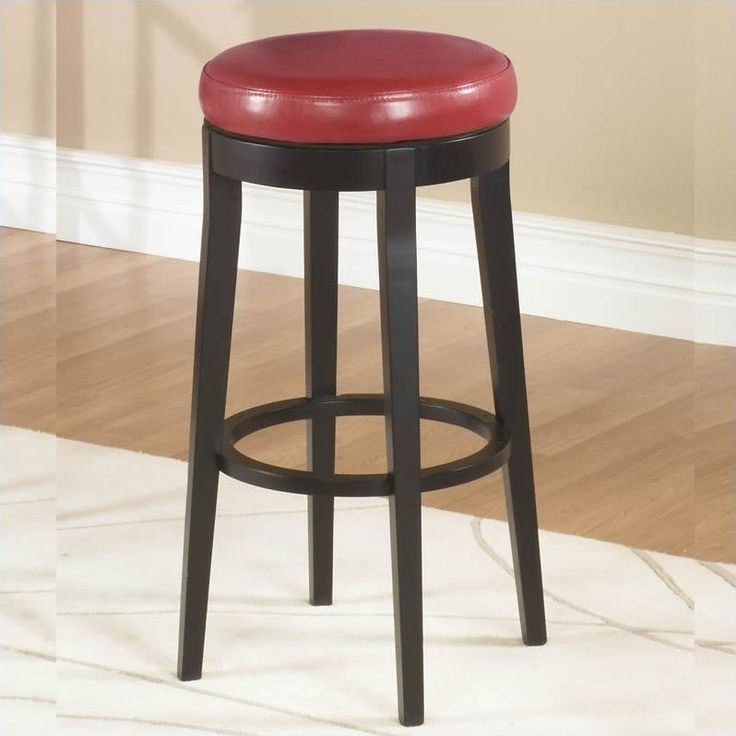 """Lowest price online on all Armen Living 30"""" Round Backless Swivel Bar Stool in Red - LC450BARE30"""