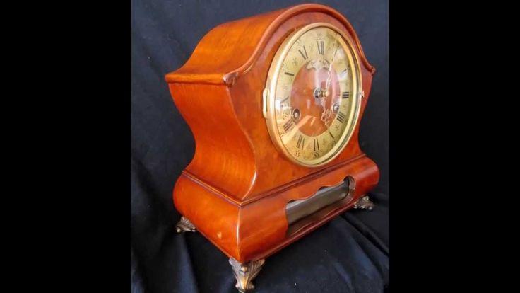Beautiful Warmink Vintage Dutch Walnut Vaneer 8 Day Cabinet Clock For Sale On eBay  http://www.ebay.co.uk/itm/Rare-Warmink-8-Day-10-2-Inch-Burl-Wood-Bedroom-Bracket-Clock-Moon-Phase-/371001539807?pt=UK_Clocks&hash=item56616a3cdf