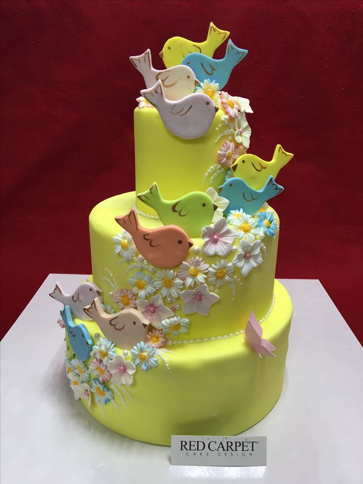 Little birds cale by RedCarpetCakeDesign www.redcarpetcakedesign.it