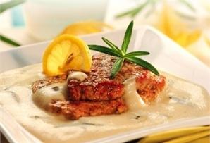 Duet mięsny w sosie lawendowym / Chicken and tenderloins in a lavender sauce  www.winiary.pl