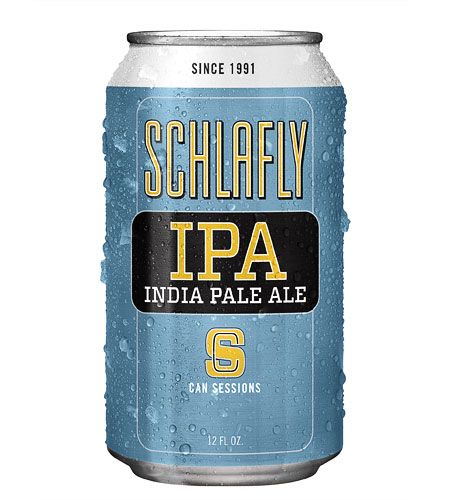 I think I only like the blue, yellow & white IPA can, but I really like this blue, yellow & white IPA can --> Schlafly Beer Can Sessions